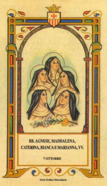 Beate Agnese, Maddalena, Caterina, Bianca e Marianna