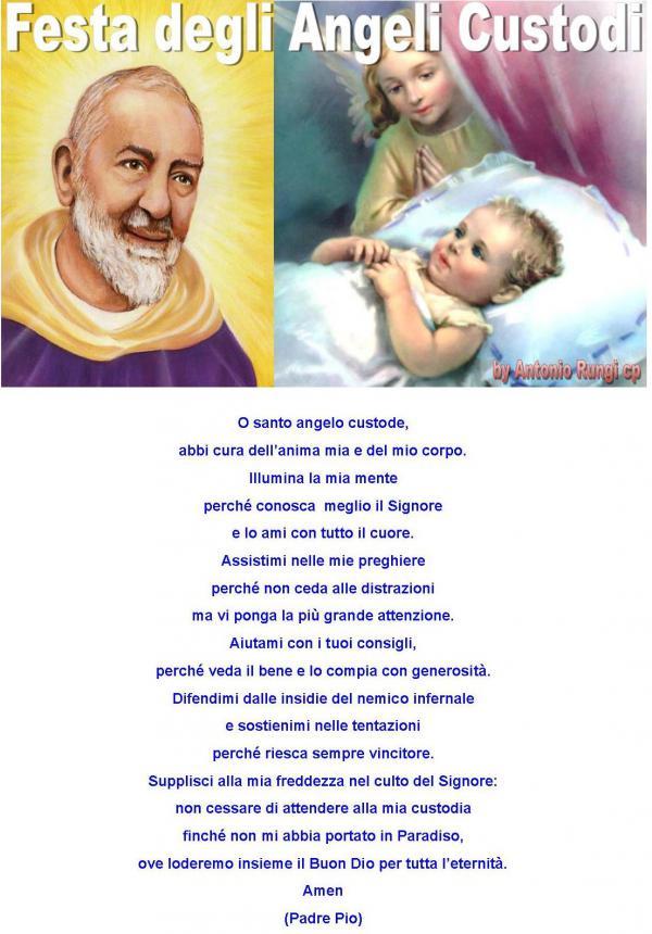 La preghiera all'Angelo Custode di San Pio da Pietrelcina